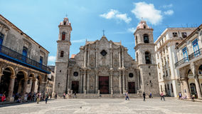 Havana Cathedral Cuba Stock Images