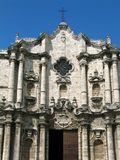 Havana Cathedral Detail Stock Photo