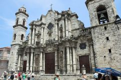 Havana Cathedral - Havana Royalty Free Stock Photos