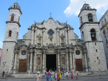 Havana Cathedral Royalty Free Stock Photos
