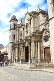 Havana Cathedral in Old Havana Royalty Free Stock Photography