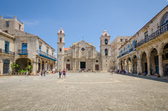 Havana Cathedral Plaza Stock Photography