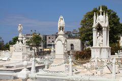 Havana cemetery Royalty Free Stock Photo