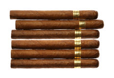 Havana Cigars Set Isolated on White Stock Image
