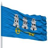 Havana City Flag sur le mât de drapeau Image libre de droits