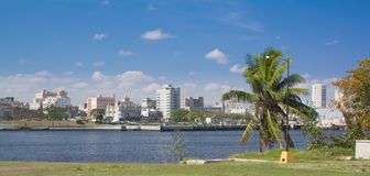 Havana City panorama near the tunnel entrance Royalty Free Stock Photography