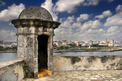Havana city skyline from Fortress wall Royalty Free Stock Photo