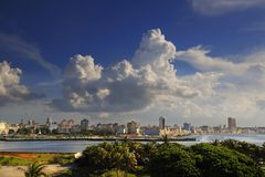 Havana cityscape from El Morro Fortress Stock Photo