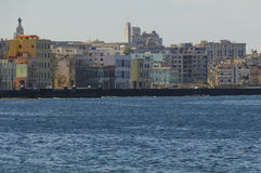 Havana. Cityscape of Havana with the Malecon, Cuba Royalty Free Stock Photography
