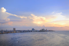 Havana cityscape at sunset Royalty Free Stock Photo
