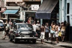 Havana Classic Black Car Cuba Lizenzfreie Stockfotos