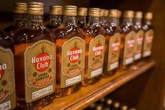 Havana Club rum. Havana Club Añejo Especial rum as displayed at the Rum factory in Havana Cuba. Image taken on August 18, 2017 royalty free stock images
