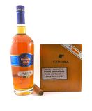 Havana Club rum and Cohiba cigars Stock Image