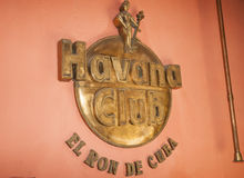 Havana Club sign. Royalty Free Stock Photos