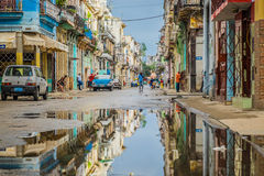 Havana. A colourful street in the Havana, Cuba from my last photographic trip Stock Photography