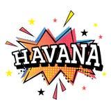 Havana Comic Text en el estallido Art Style Fotografía de archivo