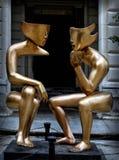 Havana, the Conversation Sculpture Stock Image