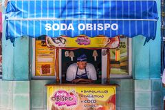 Free Havana / Cuba - 04.15.2015: A Cuban Man Selling Ice Cream In A Shop, Thinking Deep Thoughts Stock Photos - 191728863