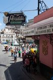 Havana, Cuba - April 13, 2017: El Floridita is a historic cocktail bar in the older part of Havana, Cuba. It is famous for the royalty free stock photography