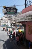 Havana, Cuba - April 13, 2017: El Floridita is a historic cocktail bar in the older part of Havana, Cuba. It is famous for the royalty free stock images