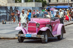 HAVANA, CUBA - APRIL 1, 2012: Really old antique car Royalty Free Stock Image