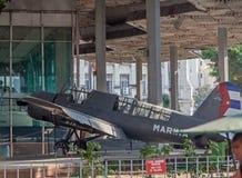 HAVANA, CUBA - APRIL 2, 2012: Plane at open air exhibition royalty free stock photos