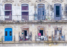 Havana Cuba architectural details Royalty Free Stock Photo