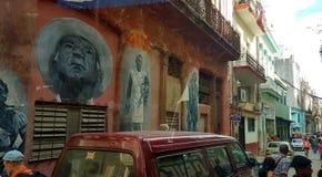 Havana Cuba Artwork och Streetlife Arkivbild