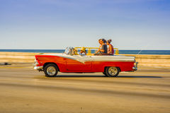HAVANA, CUBA - AUGUST 30, 2015: Old classic Royalty Free Stock Photography