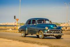 HAVANA, CUBA - AUGUST 30, 2015: Old classic Royalty Free Stock Photos