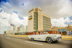 HAVANA, CUBA - AUGUST 30, 2015: Old classic stock photos