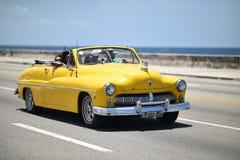 Havana, Cuba, August 14th, 2018: Old vintage car on the street of Havana royalty free stock image