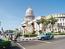 Havana - Cuba. The Avana- Cuba July 21, 2012. Photo by road to the Capitol while traveling old American cars royalty free stock photo