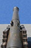 Havana, Cuba: canhão em Castillo de San Salvador de la Punta Foto de Stock Royalty Free