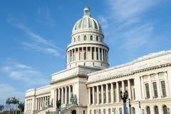 Havana Cuba Capitolio Building Blue Sky Horizontal Stock Photo
