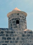 Havana, Cuba: Castillo de San Salvador de la Punta. In evening light under a clear blue sky royalty free stock image