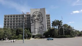 Havana, Cuba. Che Guevara face on the government building in Havana at Plaza revolucion