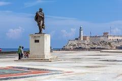 HAVANA, CUBA - 1º DE ABRIL DE 2012: Monumento de Miranda e grupo de Cuba Imagens de Stock