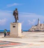 HAVANA, CUBA - 1º DE ABRIL DE 2012: Monumento de Miranda e grupo de Cuba Foto de Stock