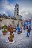 HAVANA, CUBA - DEC 4, 2015: Sculptures at the San Francisco de A Royalty Free Stock Photography
