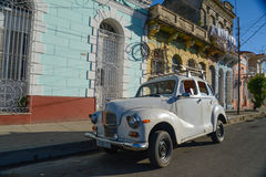HAVANA, CUBA - DECEMBER 8, 2014 Classic American car drive on st Stock Photos