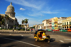 HAVANA, CUBA - DECEMBER 15 2014. Cubans walking normally in the center of Havana, after the US announced changes to its policy with Cuba Stock Image