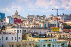 Havana, Cuba downtown skyline. Havana, Cuba downtown skyline from above in the day Stock Image