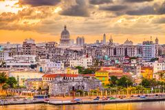 Havana, Cuba downtown skyline Royalty Free Stock Photo