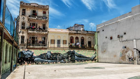 Havana Cuba Dream Girl Street-Art. Royalty-vrije Stock Foto's