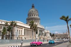 Havana Cuba El Capitolio. National Capitol Building known as El Capitolio in Havana, Cuba formerly the seat of government in Cuba until the Cuban Revolution in Royalty Free Stock Image