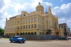 Havana, Cuba - the Grand theatre of Havana is situated on the Paseo del Prado in Havana royalty free stock photography