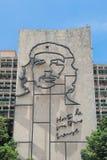 Havana, Cuba: Iconic iron mural of Che Guevara on Ministry of Interior Royalty Free Stock Photo