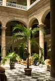 Havana Cuba, interior courtyard Royalty Free Stock Photos