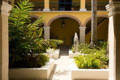 Havana Cuba, interior courtyard Stock Photos